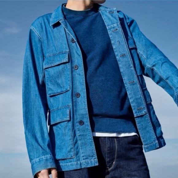 1e1c3ea0a4 Uniqlo U Men s Denim Work Jacket Blue Small. M 5b32970fe944ba1237d11771
